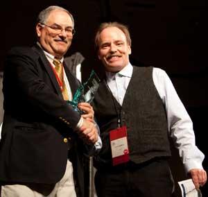 PAS President Steve Houghton Presenting The Award